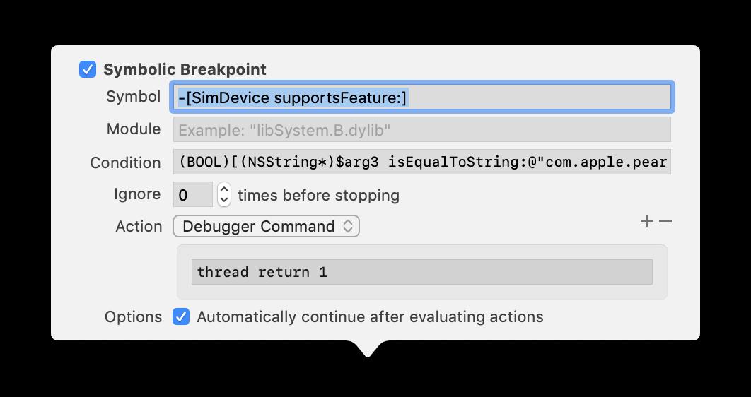 Mocking Capabilities in the iOS Simulator